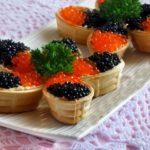 Тарталетки из черной икры: варианты рецептов